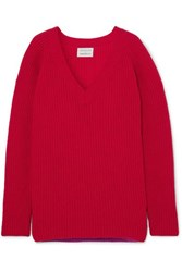 Borgo De Nor Ribbed Wool Sweater Red