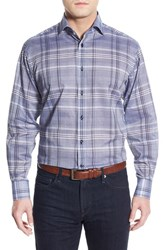 Men's Thomas Dean Regular Fit Plaid Sport Shirt
