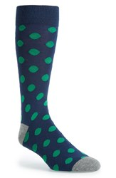 Men's The Tie Bar 'Common Dots' Socks Blue Blue Green