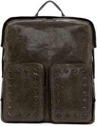 Jimmy Choo Grey Suede Lennox Backpack