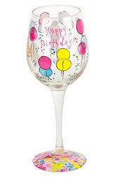 Lilly Pulitzer 'Happy Birthday' Wine Glass