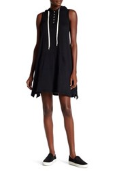 Allen Allen Sleeveless Trapeze Shirt Dress Black