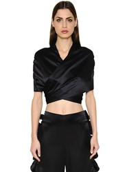 Breelayne Silk Charmeuse Wrap Top With Tie Back