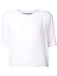 Raquel Allegra Basic T Shirt White