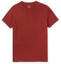 J.Crew Broken In Melange Cotton Jersey T Shirt Brick