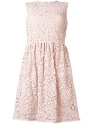 Red Valentino Macrame Flared Dress Pink Purple
