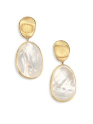 Marco Bicego Lunaria Mother Of Pearl And 18K Yellow Gold Long Drop Earrings