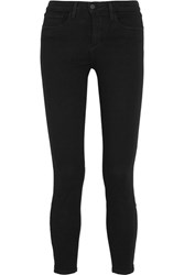L'agence Andrea Cropped High Rise Skinny Jeans Black