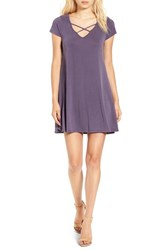 Socialite Women's Cross Front T Shirt Dress Nightshade