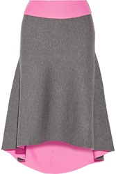 Milly Reversible Asymmetric Stretch Knit Skirt