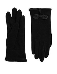 Lauren Ralph Lauren Rosette Wool Blend Gloves Black