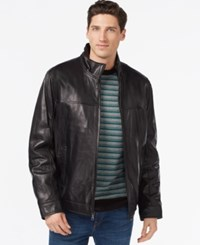 Tommy Hilfiger Smooth Leather Jacket Black