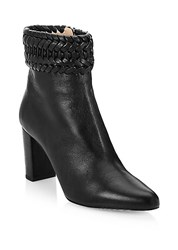 Altuzarra Chianda Braided Leather Ankle Boots Black