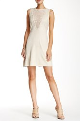 Romeo And Juliet Couture Faux Suede Crochet Inset Fitted Dress Pink