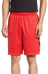 Nike Men's 'Elite Stripe' Basketball Shorts University Red Black