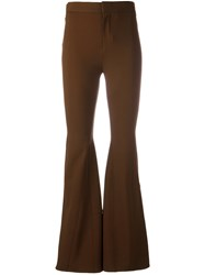 Givenchy Flared Trousers Women Elastodiene Polyamide Viscose 38 Brown