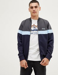 Barbour International Track Jacket Sweat In Navy
