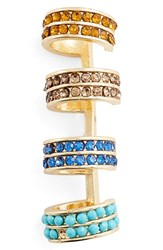 Jules Smith Designs Women's Jules Smith Crystal Ear Cuff Gold Blue Orange