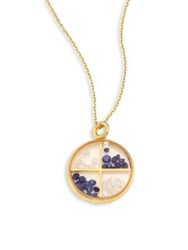 Aurelie Bidermann Diamond Blue Sapphire And 18K Yellow Gold Medallion Gold Multi