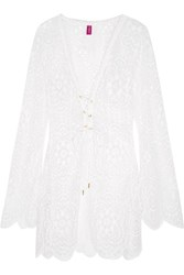 Agent Provocateur L'agent By Aaliya Crocheted Lace Dress White