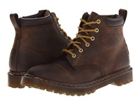 Dr. Martens 939 6 Eye Padded Collar Boot Gaucho Rugged Crazy Horse Men's Lace Up Boots Brown