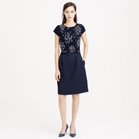 J.Crew Collection Embellished Tweed Dress