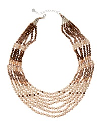 Nakamol Layered Bead Necklace Cream Copper