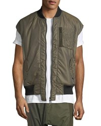 Mostly Heard Rarely Seen Reversible Tech Vest Army Green