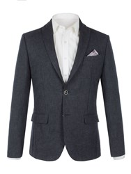 Alexandre Of England Men's Ridley Navy Linen Blend Jacket Navy