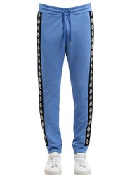 Love Moschino Logo Side Bands Cotton Blend Sweatpants Turquase