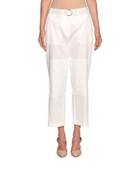 Giorgio Armani Belted Cropped Utility Pants White