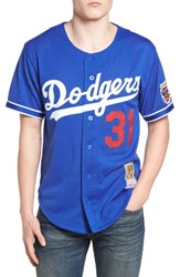 Mitchell And Ness Men's Mike Piazza Los Angeles Dodgers Authentic Mesh Jersey