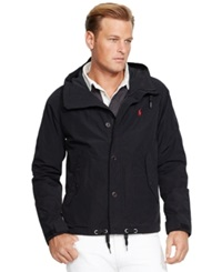 Polo Ralph Lauren Big And Tall Hooded Anorak Polo Black