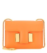 Tom Ford Sienna Small Leather Shoulder Bag Orange