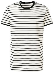 Low Brand Striped T Shirt Black