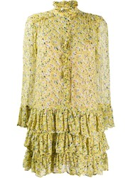 Zadig And Voltaire Rebbie Anemone Dress Yellow