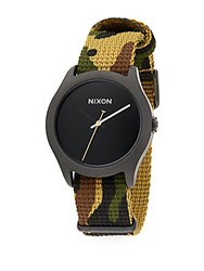 Nixon Mod Stainless Steel Camo Strap Watch Multi