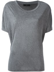 Diesel Loose Fit T Shirt Grey