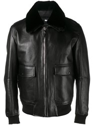 Christian Dior Homme Classic Flight Jacket Black