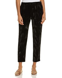 Dylan Gray Cropped Crushed Velvet Pants Black