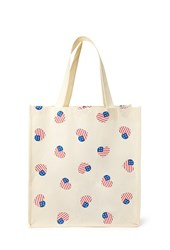 Forever 21 Heart Shaped American Flag Tote