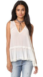 Free People Lace Trapeze Cami Ivory