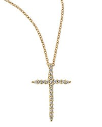 Roberto Coin 18K Yellow Gold Diamond Cross Necklace
