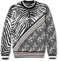 Dolce And Gabbana Printed Loopback Cotton Jersey Sweatshirt Black
