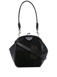 Y's Small Panelled Purse Bag Black