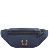 Fred Perry Authentic Laurel Logo Waist Bag Blue