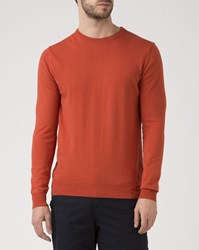 M.Studio Titouan Orange Red Crew Neck Sweater