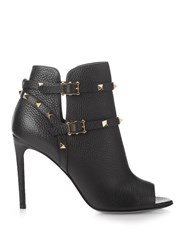 Valentino Rockstud Grained Leather Ankle Boots
