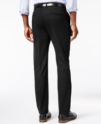 Kenneth Cole Reaction Men's Stretch Athleisure Slim Fit Dress Pants Black