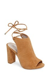Kenneth Cole Women's New York Darla Block Heel Sandal Umber Suede